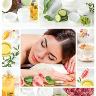 Woman Getting Aromatherapy Massage Collage