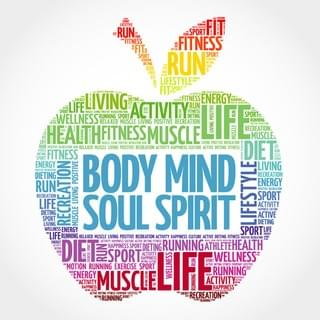 Body Mind Soul & Spirit Illustration Using Apple