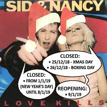 2018 Vintage Record Christmas hours