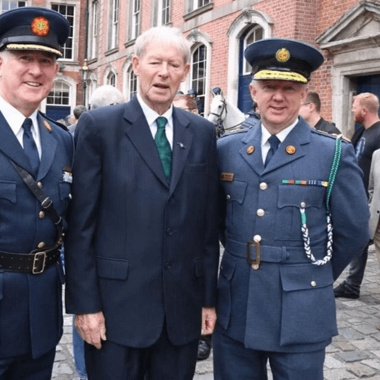 Mícheál Ó Muircheartaigh was there to lend his support to the day