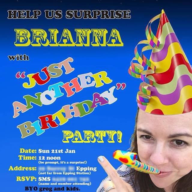 Just Another Birthday Party - Surprise Party invitation