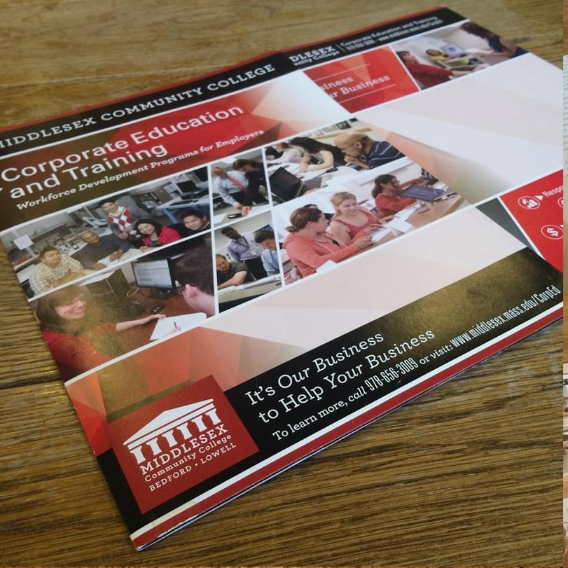 Middlesex CC Corporate Education & Training Outreach Promotional Brochure