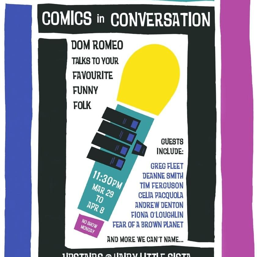 Stand-Up Sit-Down – Comics in Conversation  (production, presenter, design))