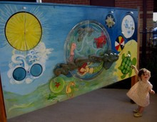 Musical gong wall for Dianela medical centre Broadmeadows
