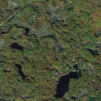 Satellite Image—Cottages are on the biggest lake