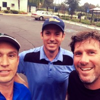 Early morning with Larry and first-timer Tim Goddard, Lakewood CC 10-14-14