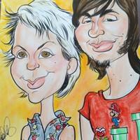 Double Color Face Caricature