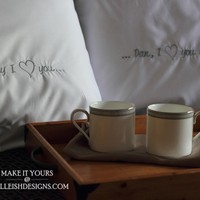 Personalized Pillowcases by Mbelleish