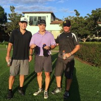 Another killer Speedgolf workout, with 18 hole 'virgins' Chris and Randy. 18 holes, 4.5 miles, glow balls and rain gloves...and done by 7:20am. Good job boys!