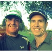 Early morning 9 with Randy Balik at Chester Washington, August 22, 2014