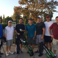 Great group of speedgolfers at Lakewood CC July 31, 2014