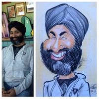 Color Face Caricature