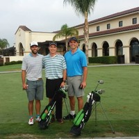 Another fun, fast 18 holes on Tiger's home course as a kid,  Navy Course-Cypress. 5 miles in 1 hour-14 minutes, 8-14-14