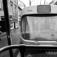 haelio photo – Trams in the rain Slovakia