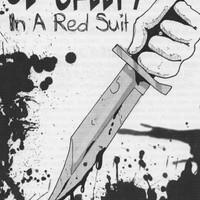 """Ol' Creepy in a Red Suit"" artwork"