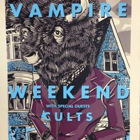 VAMPIRE WEEKEND BUFFALO OUTER HARBOR SCREENPRINT LIMETED EDITION PRINT 18x24