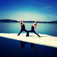 Yoga on Iceberg (Exalted Warrior)