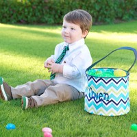 Personalized Easter baskets by Mbelleish
