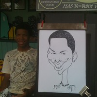 Black and White Face Caricature