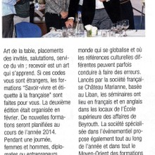 Le Commerce du Levant (April 2014)