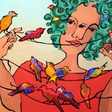 Willa with Songbirds /SOLD