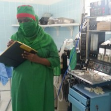 Anesthetist for cesarean delivery, Somaliland