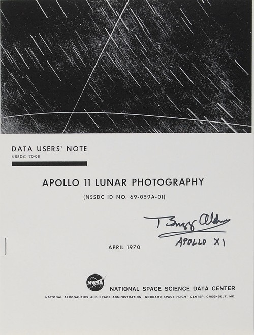 Apollo 11 : Buzz Aldrin signed Reprint of Lunar Photograph