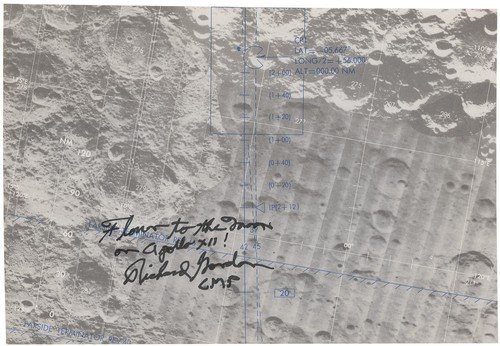 Apollo 12 Richard Gordon Flown lunar map