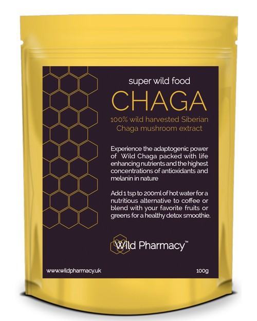 Siberian Wild harvested 100% CHAGA Extract - 100g