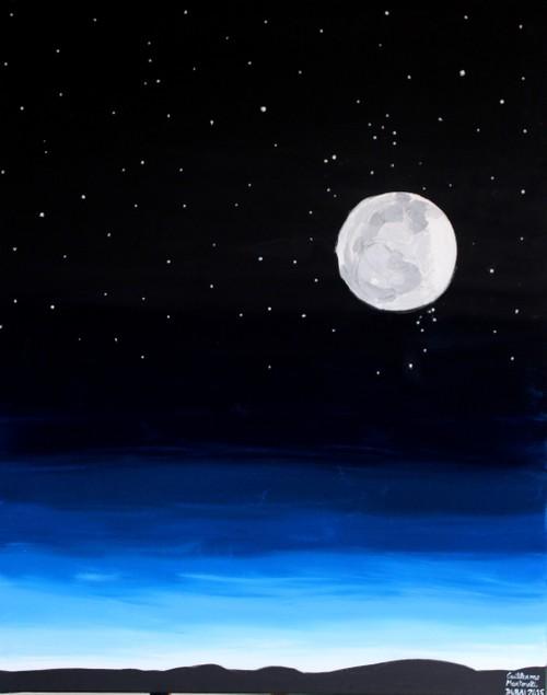 """""""Moon under the stars"""""""