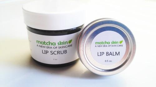 Matcha Lip Balm & Lip Scrub