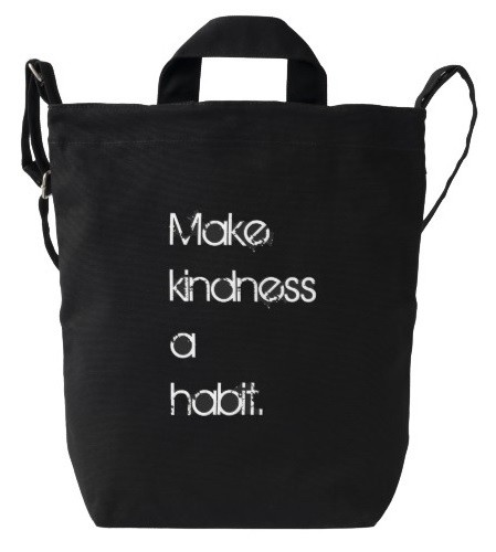 Make Kindness a Habit Duck Bag in Black