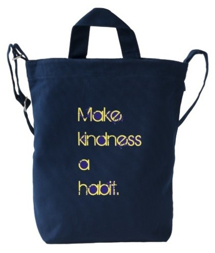 Make Kindness a Habit Duck Bag in Navy
