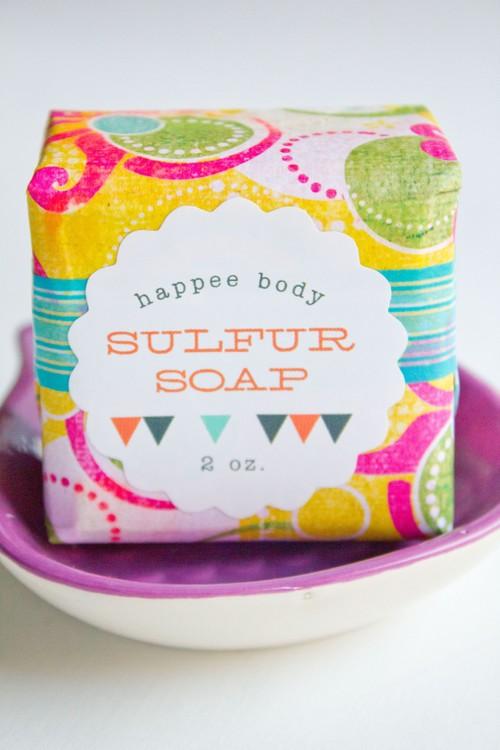 Anti-Acne Sulfur Soap + Purple Owl Soap Dish