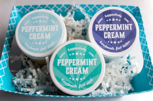 Peppermint Cream Foot Spa Gift Basket