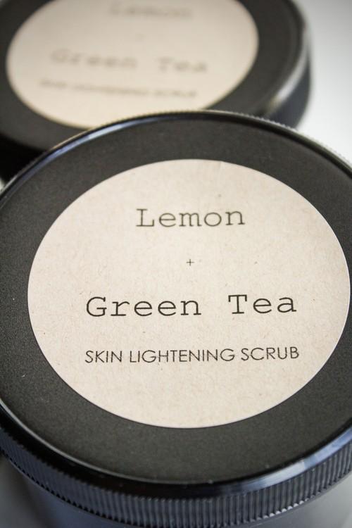 Lemon + Green Tea Skin Lightening Scrub