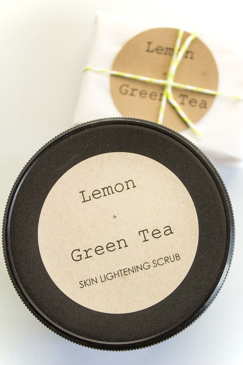 Lemon + Green Tea Skin Lightening Soap & Scrub Set