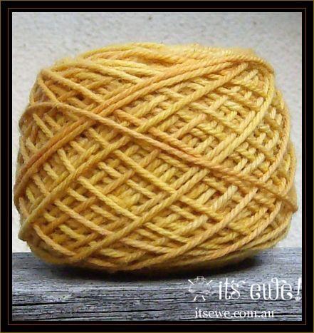 'Citrus'. Natural plant dyed merino 5 ply dual tone yarn
