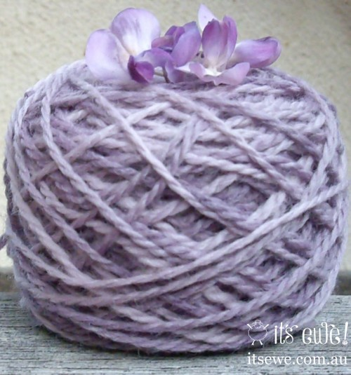 'Wisteria' Natural plant dyed merino 5 ply yarn duel tone.sold out!