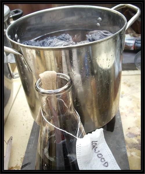 """Logwood Triple"" Natural plant dyed merino 5 ply 3-tone yarn"