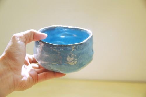 鈞釉手捏茶碗