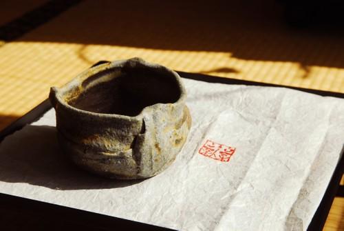 手捏岩型茶碗