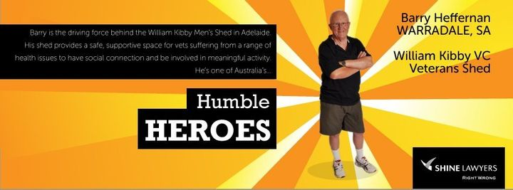 barry heffernan humble hero award veterans shed