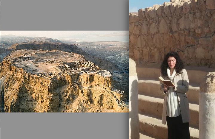 Sofia Falkovitch sings atop Masada, ancient synagogue