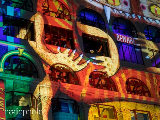 Colourful building projections at the White Night Festival