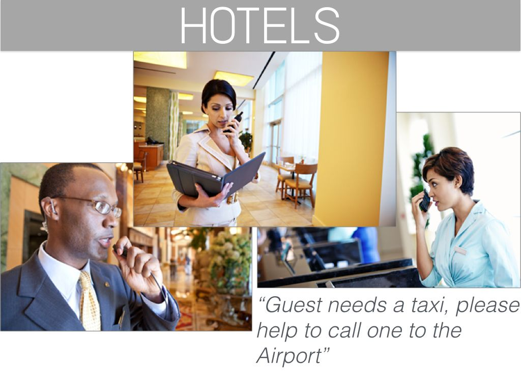 Walkie Talkie for Hospitality Industry