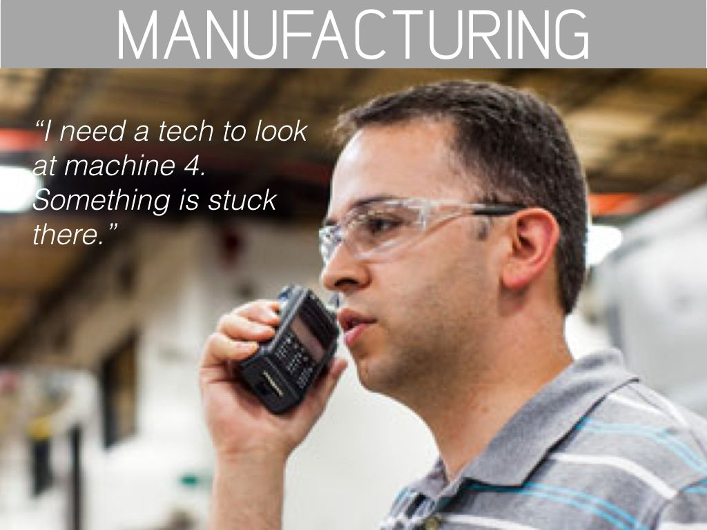 Walkie Talkie for Manufacturing Industry