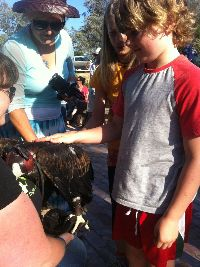 SSA Students Sebastian and Tilly up close & personal (w) Zorro.