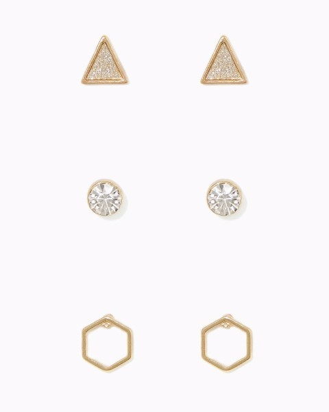 http://www.charmingcharlie.com/geometric-earring-trio.html#color=gold