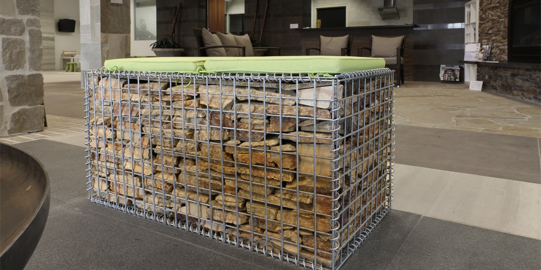 Packing Rocks in your gabion basket